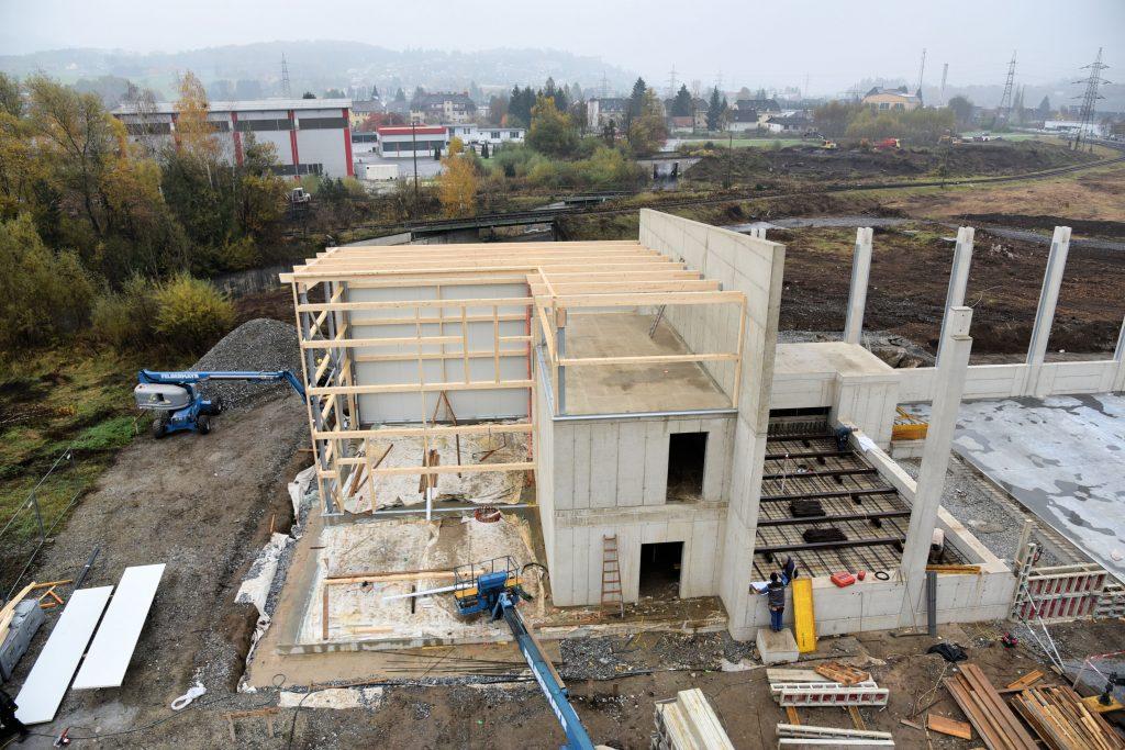 Bau Heizwerk in Bärnbach