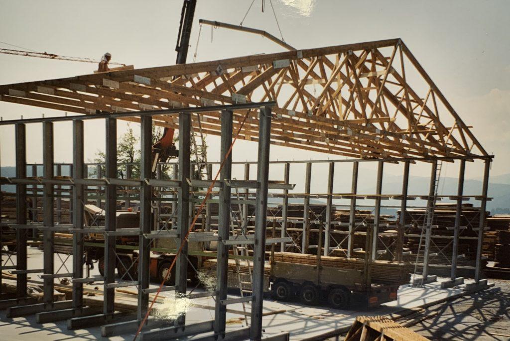 Bau Schnittholzlagerhalle