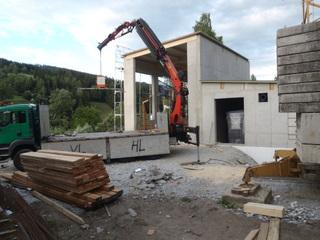 Bau Heizwerk in Hirschegg
