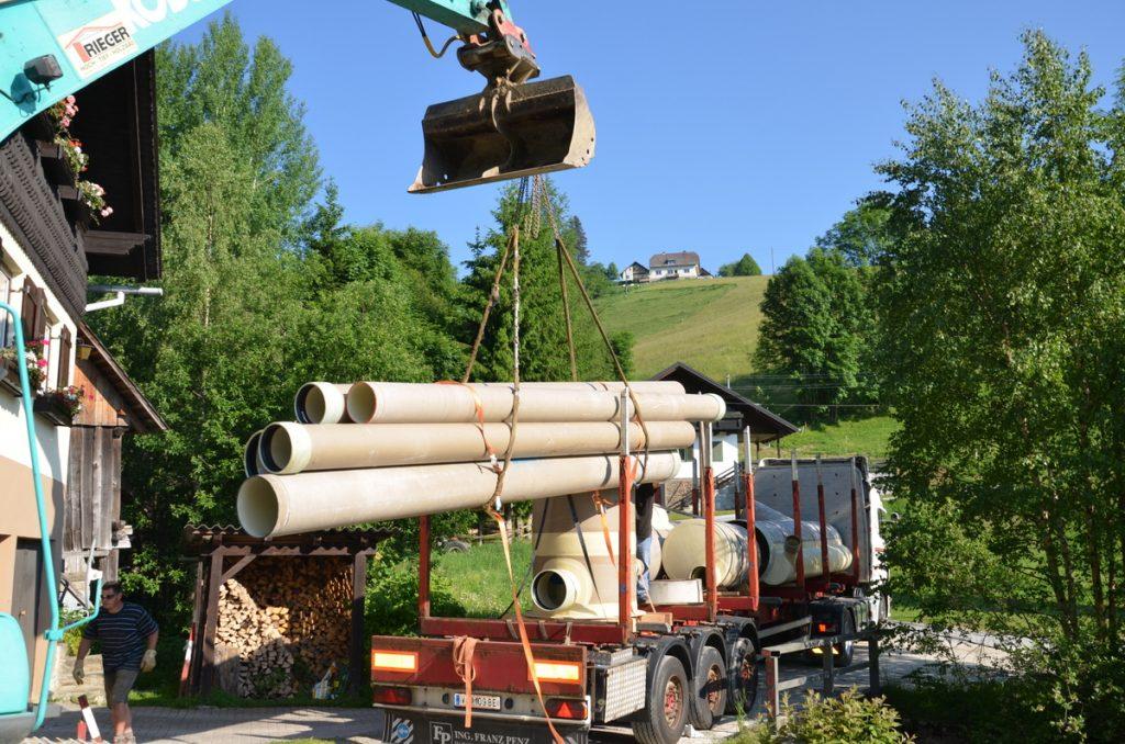 Bau Wasserkraftwerk Oslingbach, Hirschegg