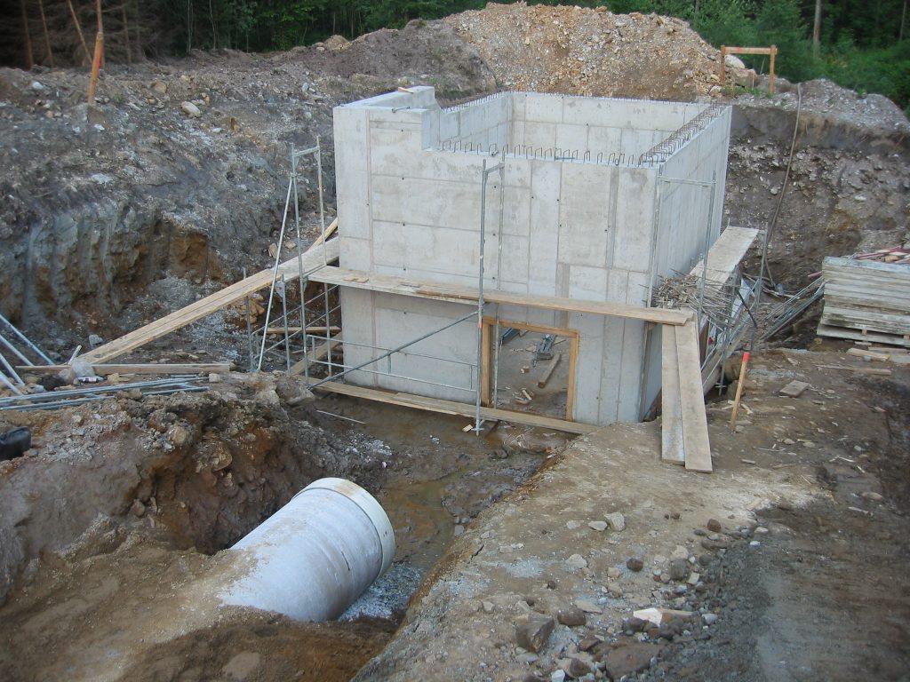 Bau Wasserkraftwerk Teigitsch, Edelschrott