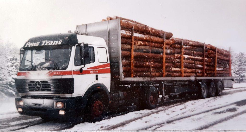 Kauf des ersten Holzsattel-LKW´s